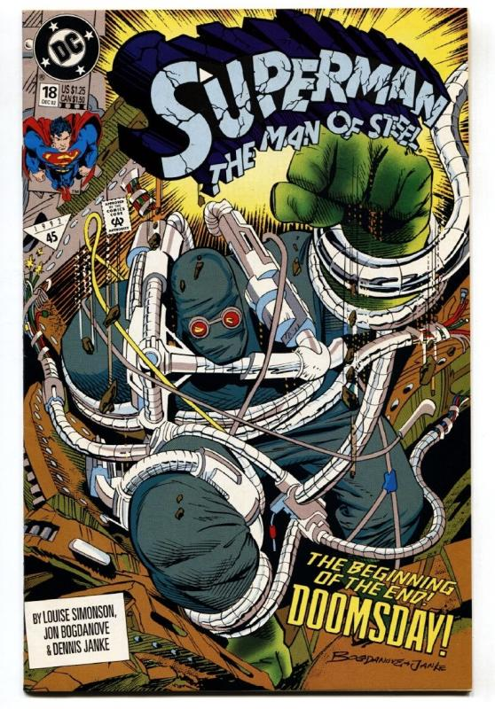 SUPERMAN THE MAN OF STEEL #18 comic book FIRST DOOMSDAY-DC-HTF-3rd PRINTING.