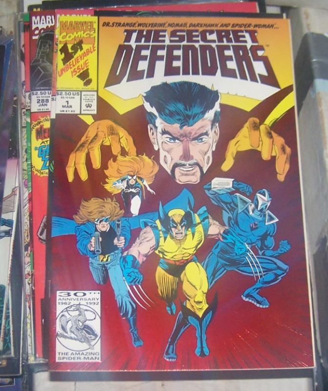 The Secret Defenders #1 (Mar 1993, Marvel) DOCTOR STRANGE WOLVERINE DARKHAWK