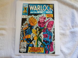 1992 marvel COMIC WARLOCK & THE INFINITY WATCH # 9