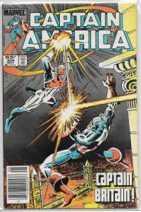 Captain America   vol. 1   #305 VG Carlin/Neary, Captain Britain