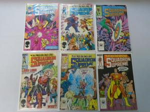 Squadron Supreme set #1-12 (1985 1st Series) average 7.0 FN/VF