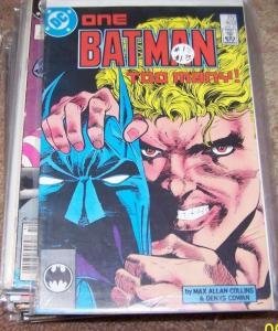 BATMAN #403 1987 dc - one batman too many  arkham gotham