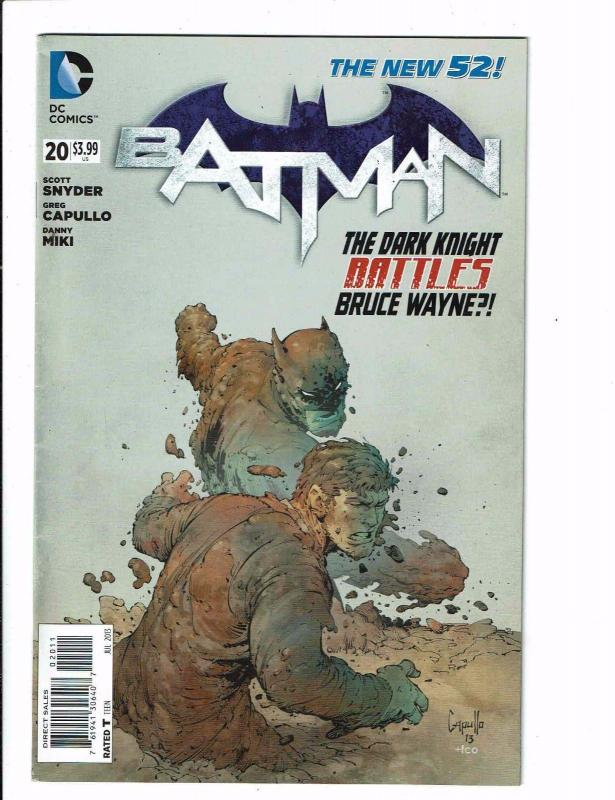 Batman # 20 VF DC New 52 Comic Book 1st Print Batgirl Nightwing Catwoman J121