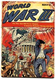 World War III #1 SCARCE anti-communist propaganda A-Bomb cover 1953