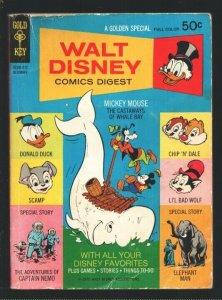 Walt Disney Comics Digest #26 1970-Carl Barks art-Captain Nemo-Elephant Man-D...