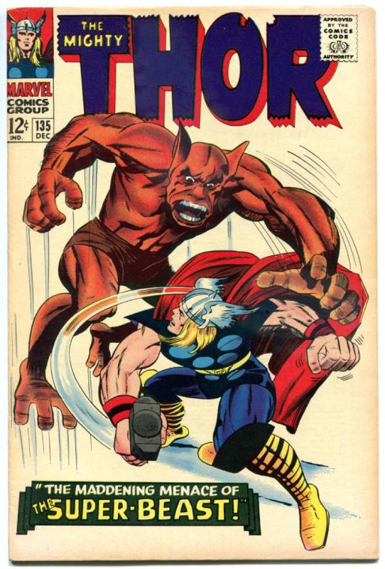 THOR #135, VF+, God of Thunder, Stan Lee, Jack Kirby, 1966, more Thor in store