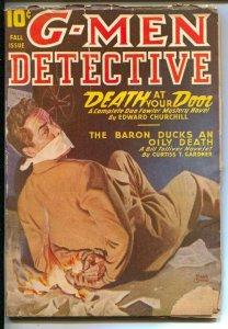 G-Men Detective Fall 1946-Rudolph Belarski bondage cover-hero Pulp-Dan Fowler-F.