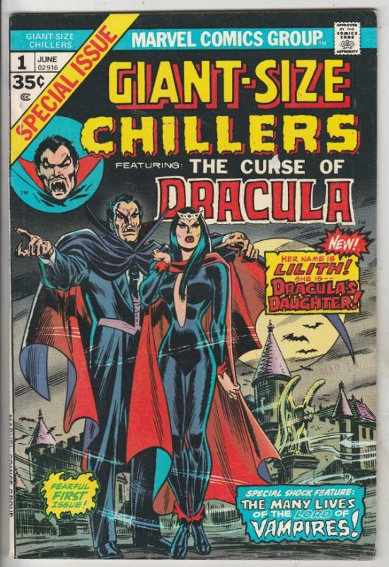 Giant-Size Chillers - Curse of Dracula #1 (Jun-74) VF+ High-Grade Dracula