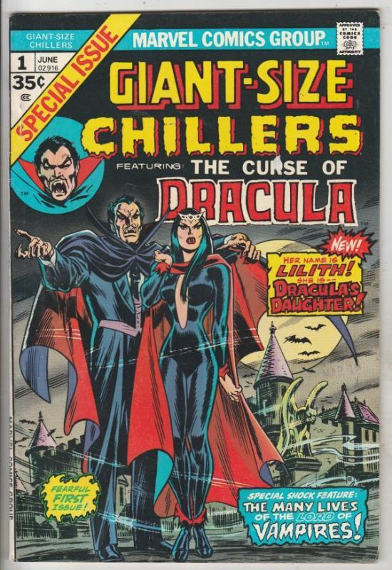 Giant-Size Chillers - Curse of Dracula #1 (Jun-74) VF+ High-Grade Dracula