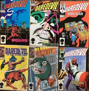 DAREDEVIL (MARVEL()#227 FRANK MILLER KEY) 6 BOOK LOT #225-230
