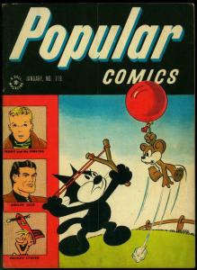 Popular Comics #119 1946- Terry & the Pirates- Felix the Cat Golden Age VG