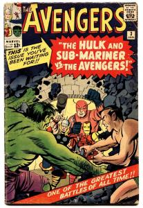 AVENGERS #3 1963-MARVEL Silver-Age comic book HULK-IRON MAN
