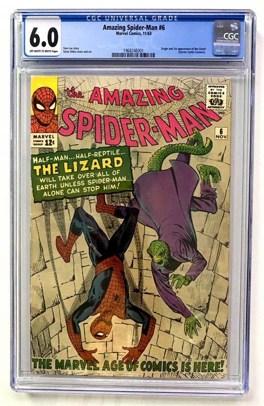 The Amazing Spider-Man #6 (1963) CGC Graded 6.0