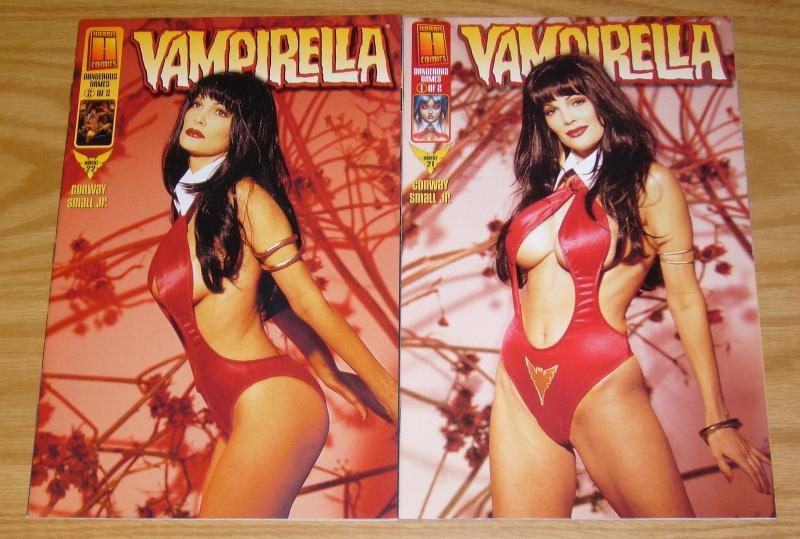 Vampirella: Dangerous Games #1-2 VF/NM complete story - julie strain photo set