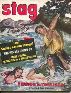 Stag  #7 3/1951-cheesecake-exploitation-nazi dog-Tiajuana-VG