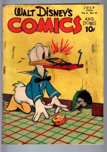 WALT DISNEY'S COMICS AND STORIES #70-1946-DONALD DUCK-MICKEY MOUSE-BARKS-GO G++