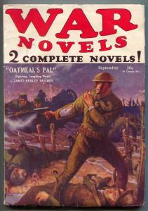 War Novels Pulp September 1928- Oatmeal's Pal FN