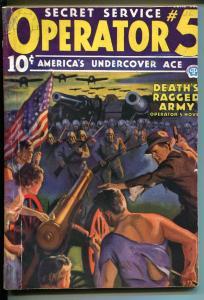 Operator #5 56/1936-Popular-hero pulp-John Howitt cover-1st Purple Empire-G