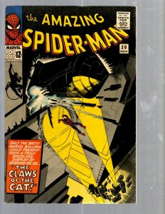 Amazing Spider-Man # 30 VF- Marvel Comic Book Lizard Vulture Goblin Scorpion TJ1