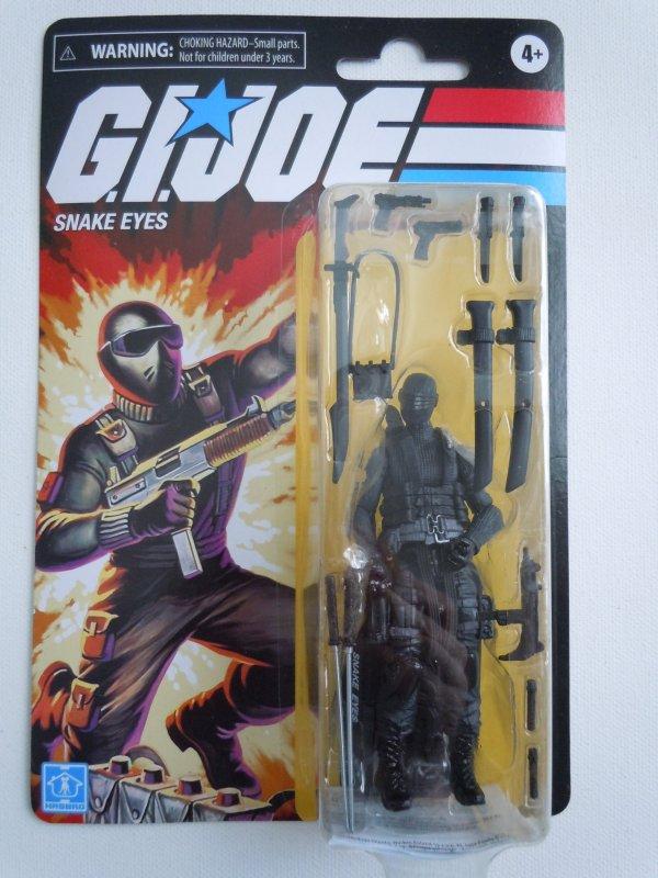 Hasbro G.I. Joe Retro Collection Snake Eyes 3.75 Inch