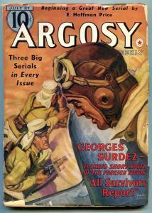 Argosy Pulp July 27940- Foreign Legion- Georges Surdez VG