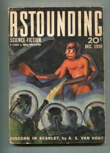 ASTOUNDING SCIENCE-FICTION-12/1939-PULP FICTION-de CAMP-VAN VOGT-WEST-vg