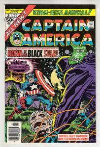 CAPTAIN AMERICA #3 Annual, VF/NM, Jack Kirby, 1968 1976, more CA in store