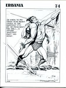 Erbania #74 1995 -Edgar Rice Burroughs-Tarzan-Burne Hogarth-Burgard-info-pix- VG