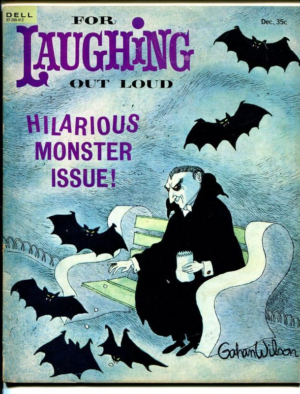 For Laughing Out Loud #33 10/1964-Dell-Gahan Wilson-monster issue-VG/FN
