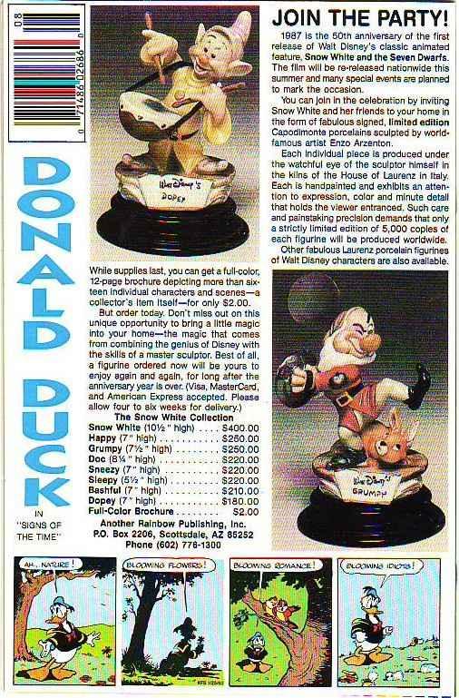 Comics and Stories, Walt Disney's #521 (Aug-87) MT Super-High-Grade Donald Du...