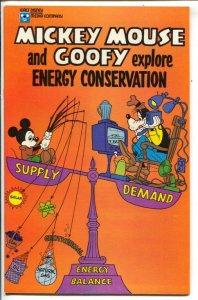 Mickey Mouse and Goofy Explore Energy Conservation 1978-Disney-unique study o...