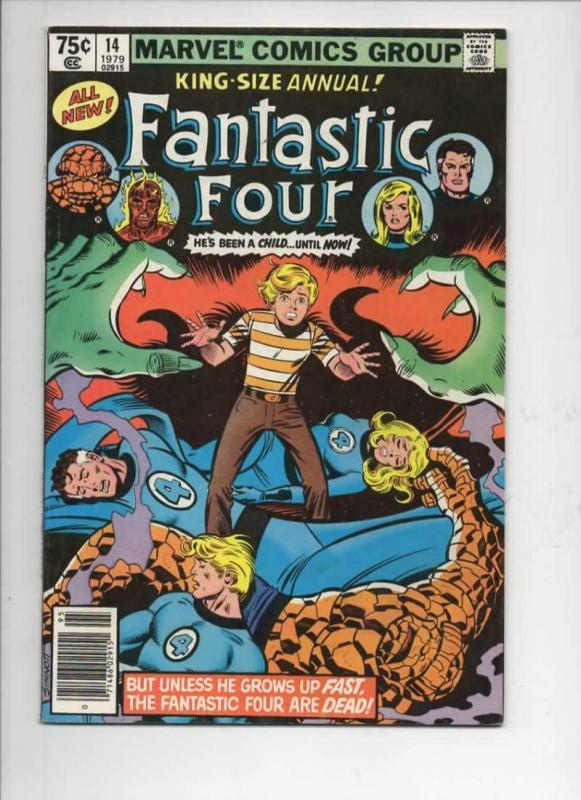 FANTASTIC FOUR #14 Annual, VF, Human Torch, Thing,1961 1979, Marvel, UPC