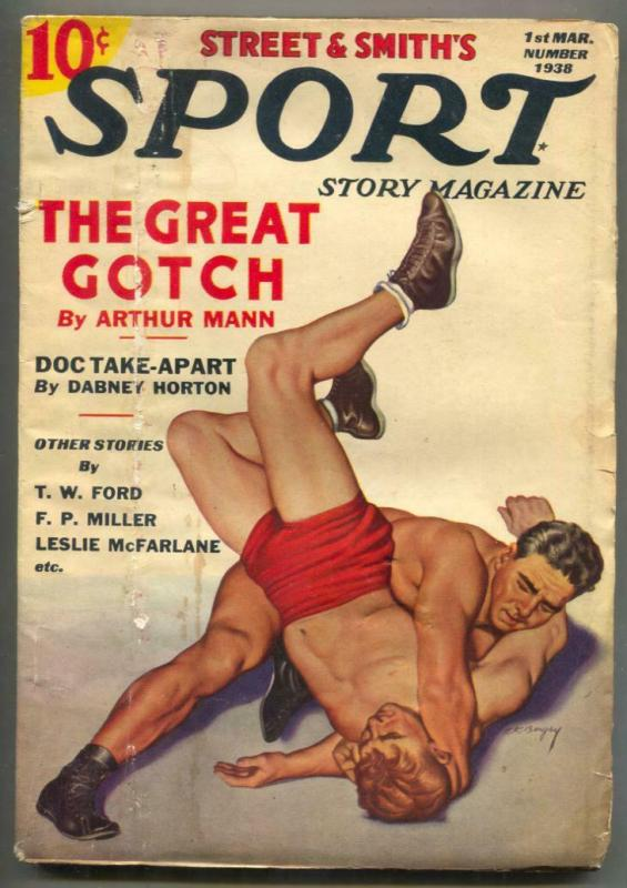 Sport Story Pulp 1st March 1938- THE GREAT GOTCH wrestling