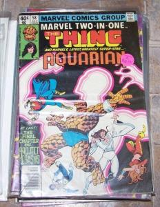 marvel two in one comic # 58  1978  bronze age +the thing+ aquarian wundarr
