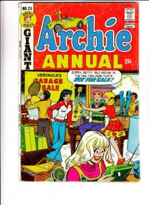 Archie Annual #25 (Jan-74) VG Affordable-Grade Archie, Betty, Veronica, Reggi...