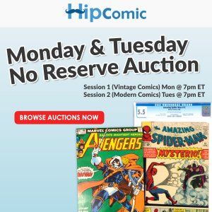 The 163rd HipComic No Reserve Auction Event