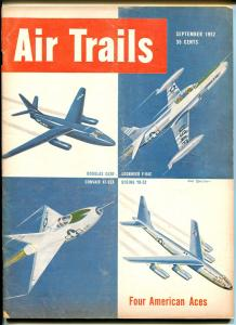 AIR TRAILS 09/1952-PULP-FOUR AMERICAN ACES-AVIATION PIX-fn