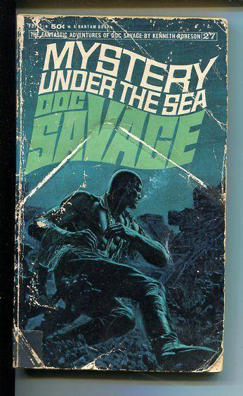 DOC SAVAGE-MYSTERY UNDER THE SEA-#27-ROBESON-G-JAMES BAMA COVER-1ST EDITION G