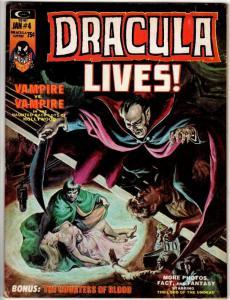 DRACULA LIVES 4 VG-  Jan. 1974 PLOOG, GARDNER FOX/AYERS