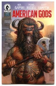 AMERICAN GODS Preview, VF/NM, Ashcan, 2017, Neil Gaiman, Craig Russell