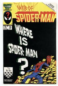 Web Of Spider-man #18 comic book Marvel Venom cameo VF