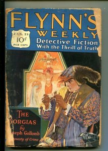 FLYNN'S WEEKLY DETECTIVE FICTION-JAN 29 1927-PULP-CRIME-MYSTERY-BORGIAS-fr