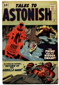 TALES TO ASTONISH #30 1962-MARVEL-JACK KIRBY-STEVE DITKO ART-GORILLA-MAN