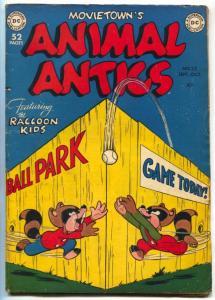 Animal Antics #22 1949-DC COMICS-RACOON KIDS - VG