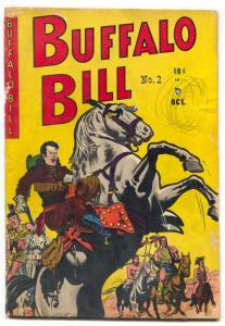 Buffalo Bill #2 1950- Wild Bill Hickok-Annie Oakley Golden Age Western G/VG