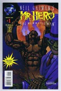 Neil Gaiman Mr. Hero #1 ORIGINAL Vintage 1995 Tekno Comix