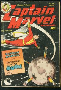 CAPTAIN MARVEL #106 MENACE OF THE MOON FAWCETT 1950 VG