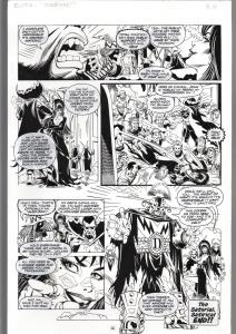 TOD SMITH--ELVIRA #165--JUMP IN---ORIGINAL ART PAGE 16-QUEEN 'B' PRODUC FN