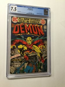 Demon 1 Cgc 7.5 Ow/w Pages 1st Appearance Of Etrigan Dc Comics