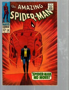 Amazing Spider-Man # 50 VF- Marvel Comic Book Lizard Vulture Goblin Scorpion TJ1